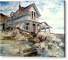 Acrylic Print featuring the painting Abandoned House by Steven Holder