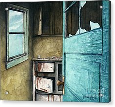 Abandoned Kitchen Stove Acrylic Print