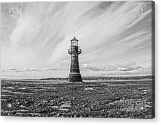 Acrylic Print featuring the photograph Abandoned Light House Whiteford by Edward Fielding