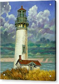 Abandoned Lighthouse Acrylic Print by John Lautermilch
