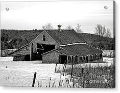 Abandoned Maine Barn In Winter Acrylic Print