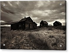 Abandoned Acrylic Print by Mike  Dawson