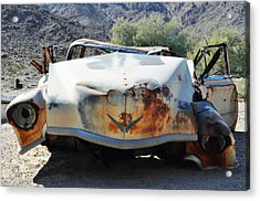Acrylic Print featuring the photograph Abandoned Mojave Auto by Kyle Hanson