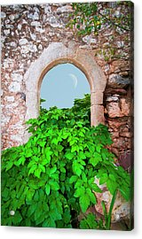 Abandoned Old House With An Arched Door Acrylic Print