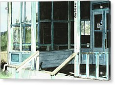 Abandoned Old Store Acrylic Print by Perry Woodfin
