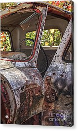 Acrylic Print featuring the photograph Abandoned Old Truck Newport New Hampshire by Edward Fielding
