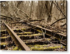 Acrylic Print featuring the photograph Abandoned Railroad 1 by Scott Hovind