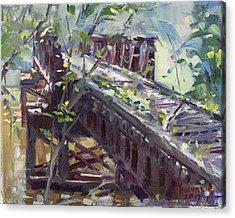 Abandoned Railroad Bridge In Tonawanda Acrylic Print