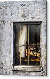 Abandoned Remnants Ala Grunge Acrylic Print by Kathy Clark
