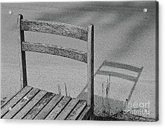 Abandoned Roadside Chair Back Acrylic Print