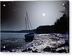 Acrylic Print featuring the photograph Abandoned Sailboat by Larry Landolfi