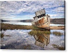 Abandoned Ship Acrylic Print by Eddie Yerkish