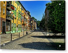 Acrylic Print featuring the photograph Abandoned Street by Mariola Bitner