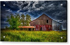 Abandoned Through The Reeds Acrylic Print by Bill Tiepelman