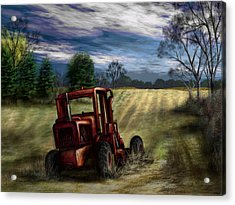 Abandoned Tractor Acrylic Print by Ron Grafe