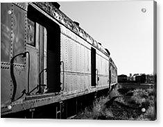Abandoned Train Cars Acrylic Print