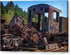 Abandoned Train Engine Acrylic Print