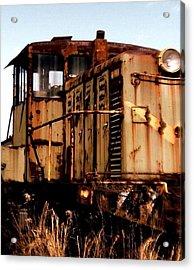 Abandoned Train Acrylic Print by Jen McKnight