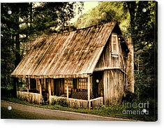 Acrylic Print featuring the photograph Abandoned Vintage House In The Woods by Dan Carmichael