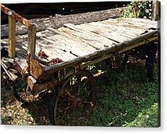 Abandoned Wagon Acrylic Print by Dennis Stein