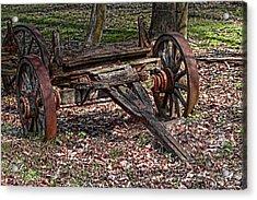 Abandoned Wagon Acrylic Print by Tom Mc Nemar