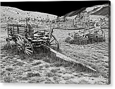 Abandoned Wagons Of Bannack Montana Ghost Town Acrylic Print by Daniel Hagerman