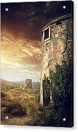 Abandoned Windmills Acrylic Print by Carlos Caetano