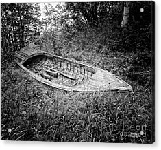 Acrylic Print featuring the photograph Abandoned Wooden Boat Alaska by Edward Fielding