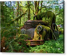Abandoned In Forest Acrylic Print