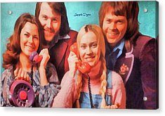 Abba Ring - Watercolor  Style Acrylic Print