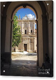 Abbey Of The Holy Spirit At Morrone In Sulmona, Italy Acrylic Print