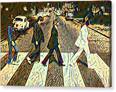 Abbey Road Watercolor Acrylic Print