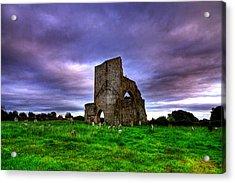 Abbeylara Abbey Acrylic Print by Kim Shatwell-Irishphotographer