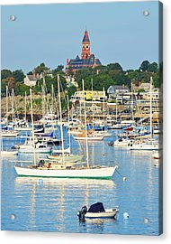 Abbot Hall Over Marblehead Harbor From Chandler Hovey Park Acrylic Print