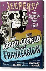 Abbott And Costello Meet Frankenstein Acrylic Print by Everett
