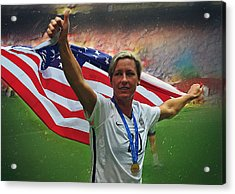 Abby Wambach Us Soccer Acrylic Print