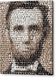Abe Lincoln Presidents Mosaic Acrylic Print by Paul Van Scott