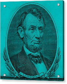 Acrylic Print featuring the photograph Abe On The 5 Aqua Blue by Rob Hans