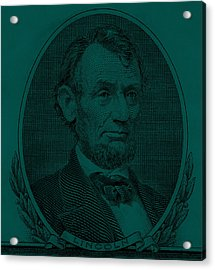 Acrylic Print featuring the photograph Abe On The 5 Greenishblue by Rob Hans