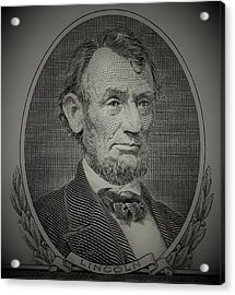 Acrylic Print featuring the photograph Abe On The 5 Grey by Rob Hans