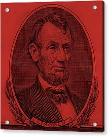 Acrylic Print featuring the photograph Abe On The 5 Orange by Rob Hans