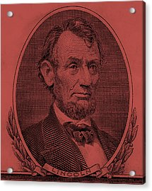 Acrylic Print featuring the photograph Abe On The 5 Peach by Rob Hans