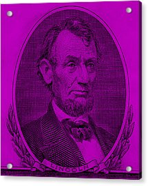 Acrylic Print featuring the photograph Abe On The 5 Purple by Rob Hans