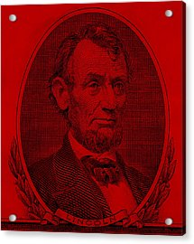 Acrylic Print featuring the photograph Abe On The 5 Red by Rob Hans