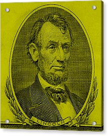 Acrylic Print featuring the photograph Abe On The 5 Yellow by Rob Hans
