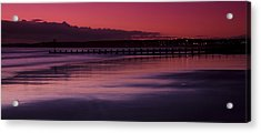 Acrylic Print featuring the photograph Aberdeen Beach After Sunset by Gabor Pozsgai