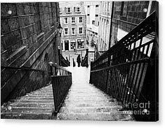 Aberdeen Union Street Back Wynd Stairs Scotland Uk Acrylic Print by Joe Fox