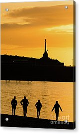 Aberystwyth Sunset Silhouettes Acrylic Print