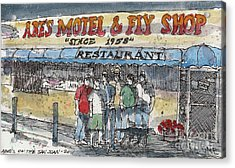 Abes Motel And Fly Shop Acrylic Print by Tim Oliver