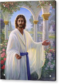 Abide With Me Acrylic Print by Greg Olsen